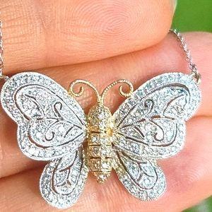 18k Diamond Butterfly Necklace Penny Preville